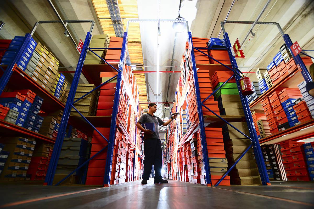 Centro de distribuição da Netshoes, em Barueri,