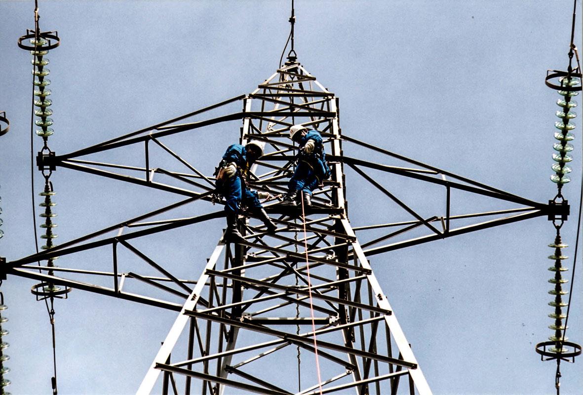 Manutenção em rede elétrica da Copel