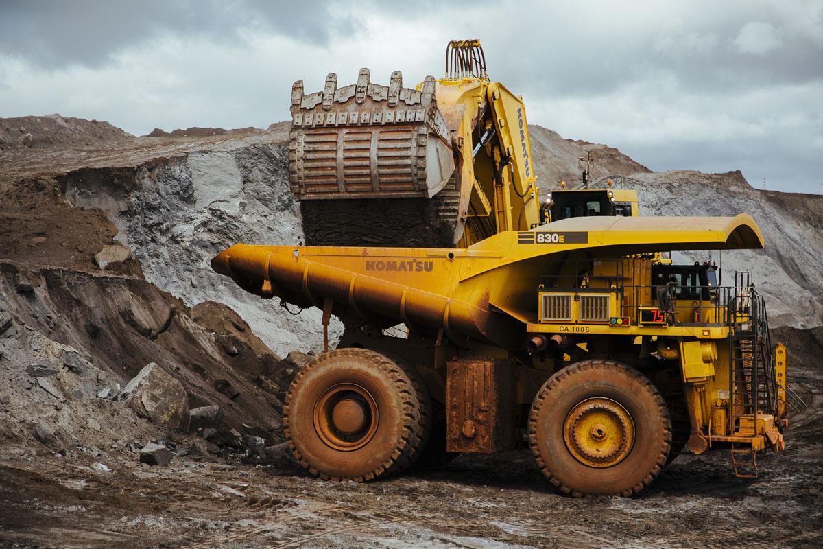 Extração de minério de ferro da Anglo American