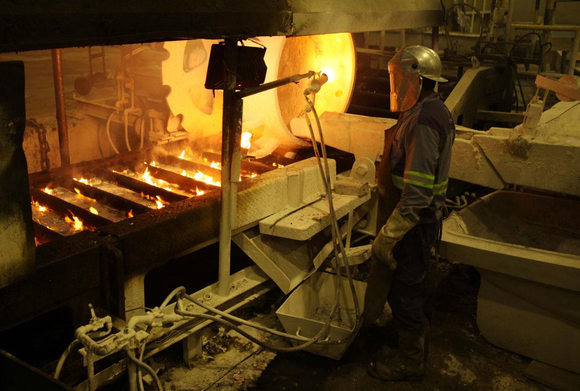 Fabrica de aluminio, Albras.Barcarena PA, 12/06/09 Foto: Manoel Marques