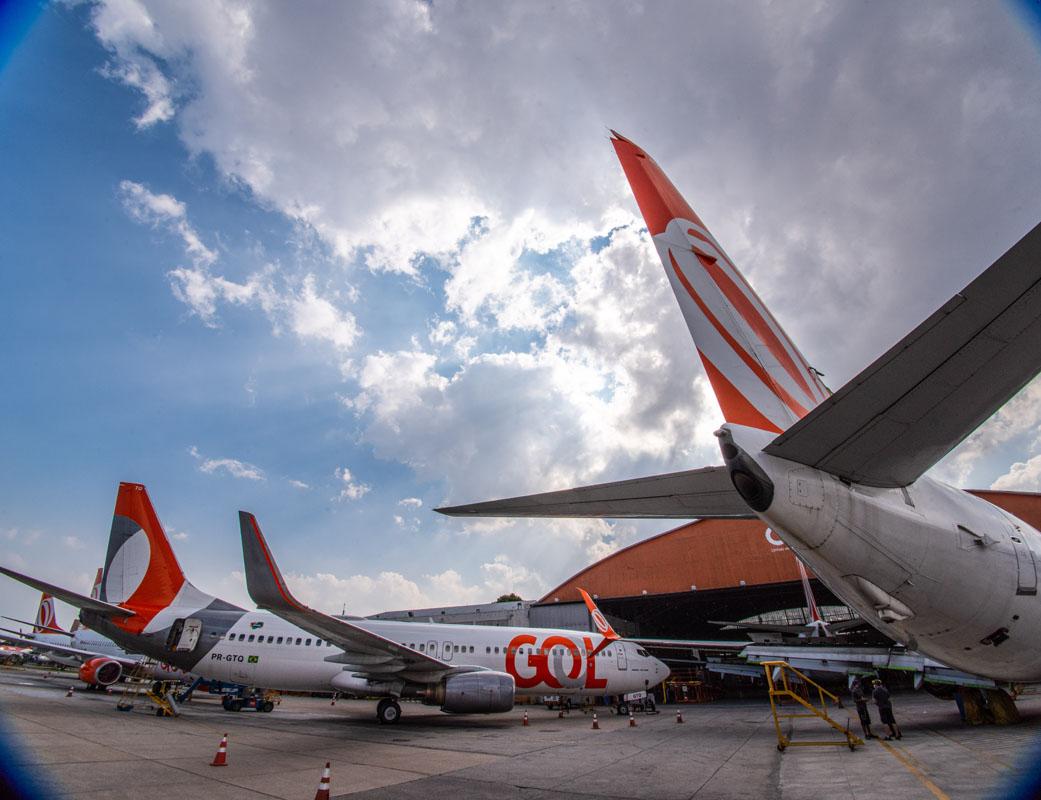 Aviões da Gol no aeroporto de Congonhas