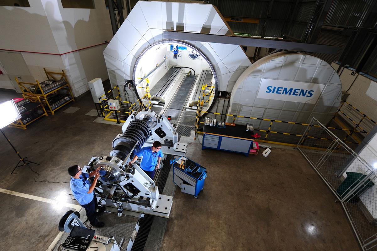 Fábrica da Siemens em Jundiaí