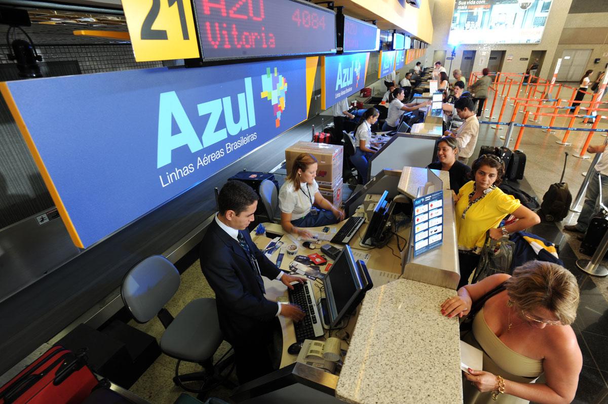 Check-in da companhia aérea Azul