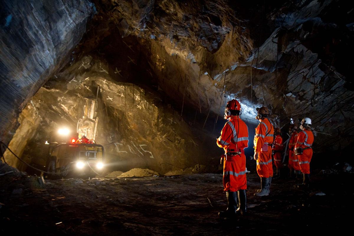 Mina Cuiabá, da mineradora sul-africana AngloGold Ashanti, na Serra da Piedade.