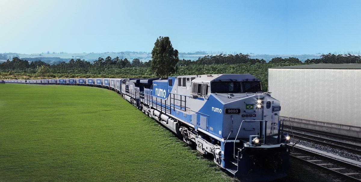 Locomotiva do Grupo Rumo