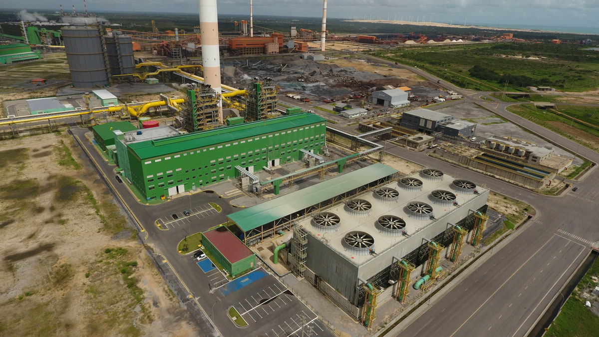 Termelétrica a gás da CSP