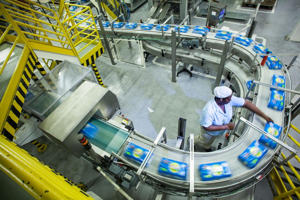 Fábrica de fraldas da Kimberly-Clark em Suzano (SP)