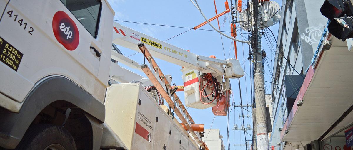 Manutenção de rede elétrica da EDP