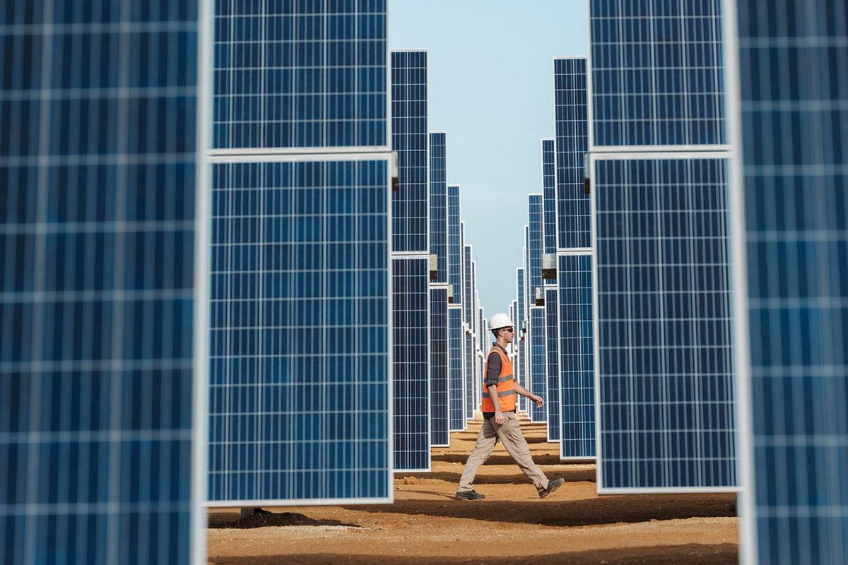 Placas de energia solar da Equinor
