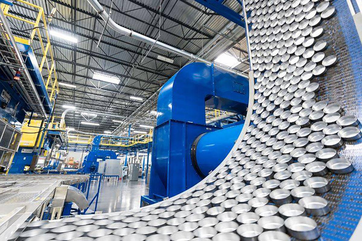 Fábrica de embalagens em lata